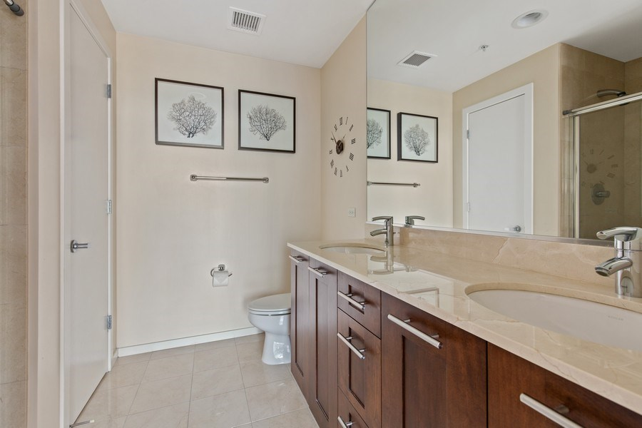 Real Estate Photography - 240 E. Illinois Street, Unit #2704, Chicago, IL, 60611 - Master Bathroom