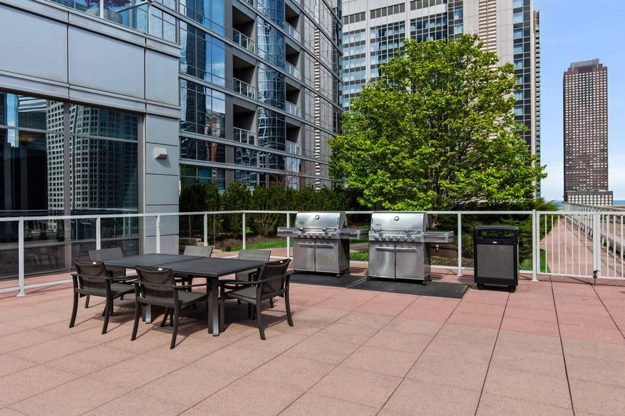 Real Estate Photography - 240 E. Illinois Street, Unit #2704, Chicago, IL, 60611 - Grilling Area