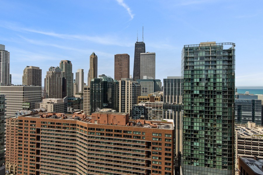 Real Estate Photography - 240 E. Illinois Street, Unit #2704, Chicago, IL, 60611 - Actual View from Balcony
