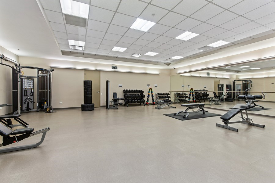 Real Estate Photography - 240 E. Illinois Street, Unit #2704, Chicago, IL, 60611 - Weight & Stretching Room