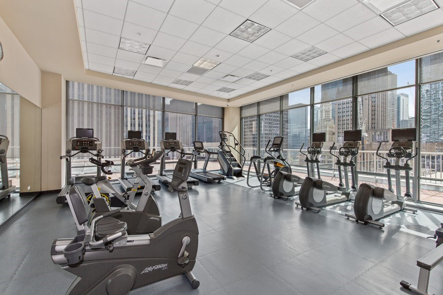 Real Estate Photography - 240 E. Illinois Street, Unit #2704, Chicago, IL, 60611 - Cardio Room