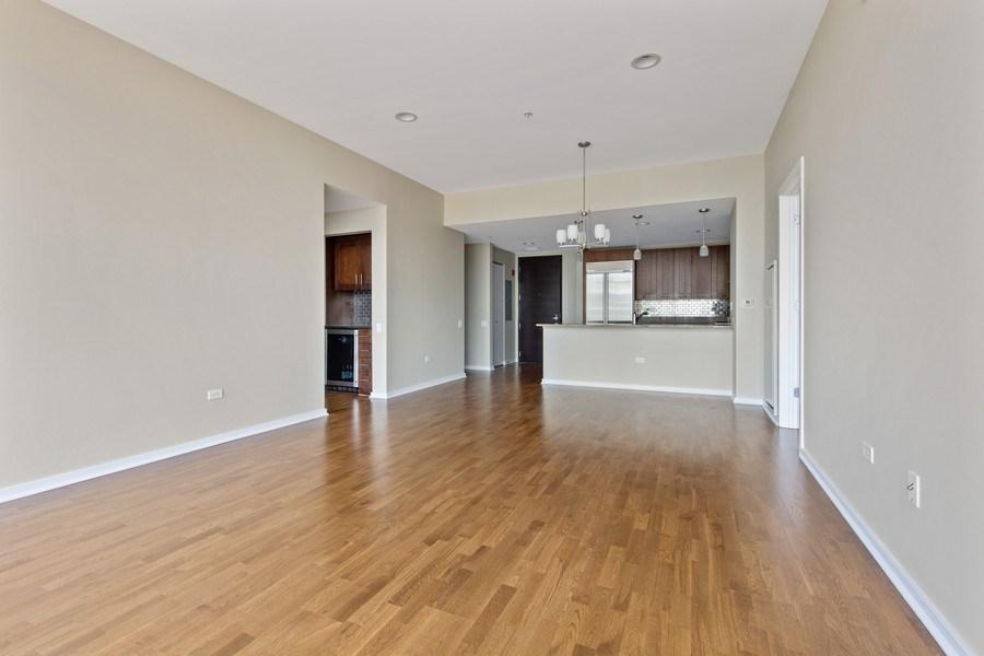 Real Estate Photography - 240 E. Illinois Street, Unit #2704, Chicago, IL, 60611 - Kitchen / Living Room