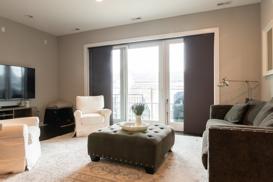 Real Estate Photography - 2550 W Fullerton Ave Unit 2D, Chicago, IL, 60647 - Living Room