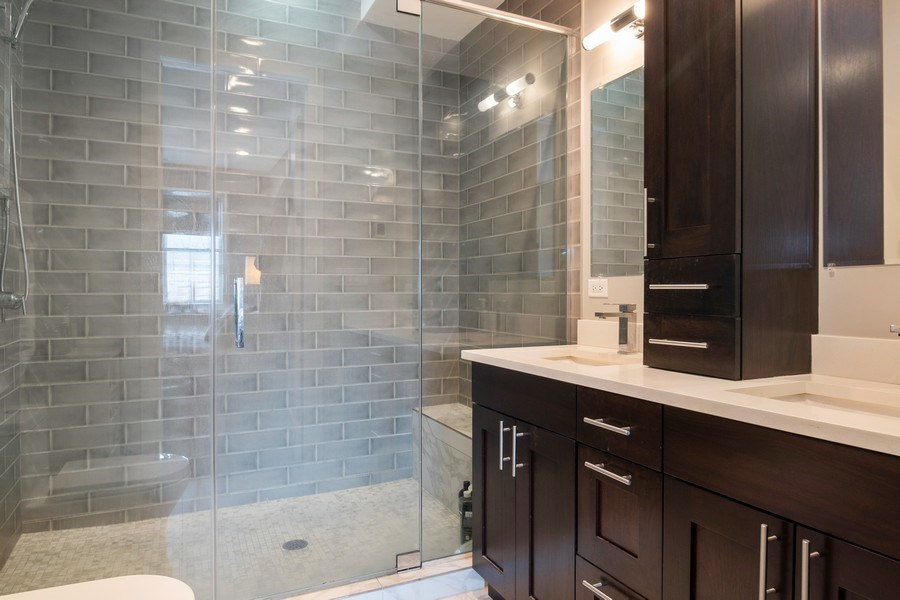 Real Estate Photography - 2550 W Fullerton Ave Unit 2D, Chicago, IL, 60647 - Master Bathroom