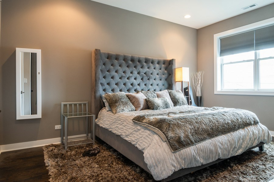Real Estate Photography - 2550 W Fullerton Ave Unit 2D, Chicago, IL, 60647 - Master Bedroom