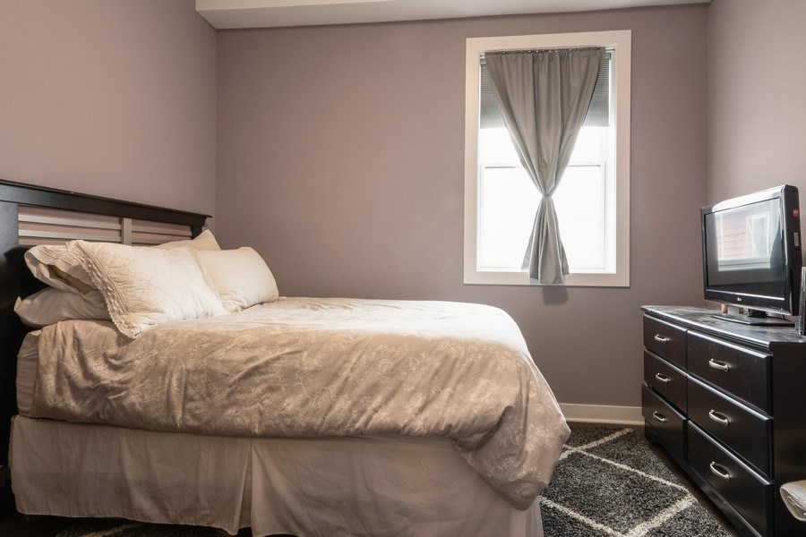Real Estate Photography - 2550 W Fullerton Ave Unit 2D, Chicago, IL, 60647 - Bedroom