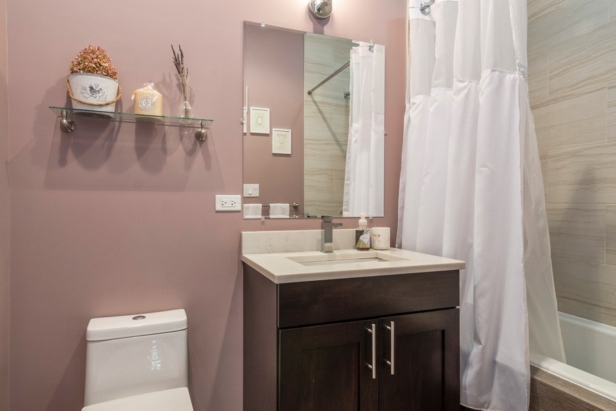 Real Estate Photography - 2550 W Fullerton Ave Unit 2D, Chicago, IL, 60647 - Bathroom
