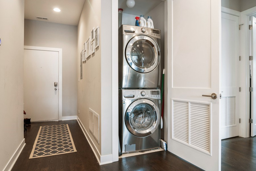 Real Estate Photography - 2550 W Fullerton Ave Unit 2D, Chicago, IL, 60647 - Laundry Room