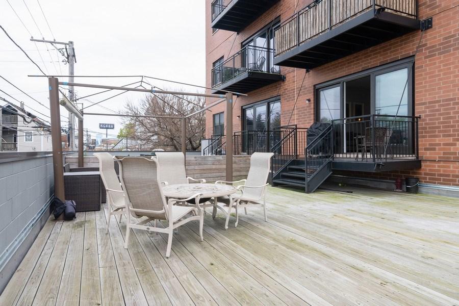 Real Estate Photography - 2550 W Fullerton Ave Unit 2D, Chicago, IL, 60647 - Deck