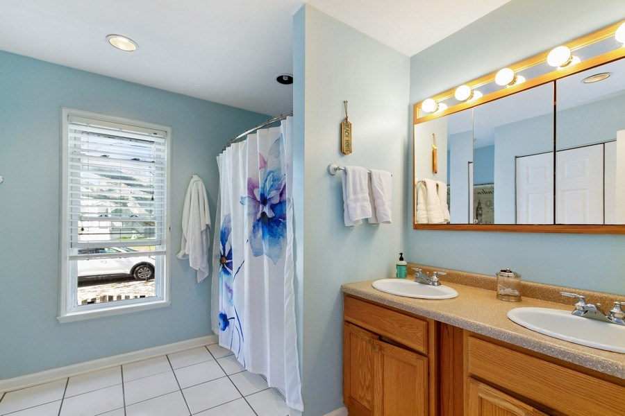Real Estate Photography - 201 Dorothy, Island Lake, IL, 60042 - Bathroom