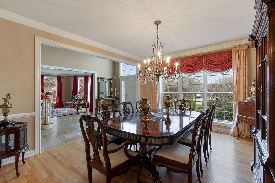 Real Estate Photography - 1009 Oakland Court, Barrington, IL, 60010 - Foyer/Dining Room