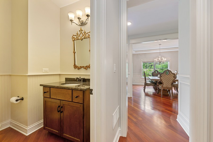 Real Estate Photography - 109 4th Street, Downers Grove, IL, 60515 - Powder Room