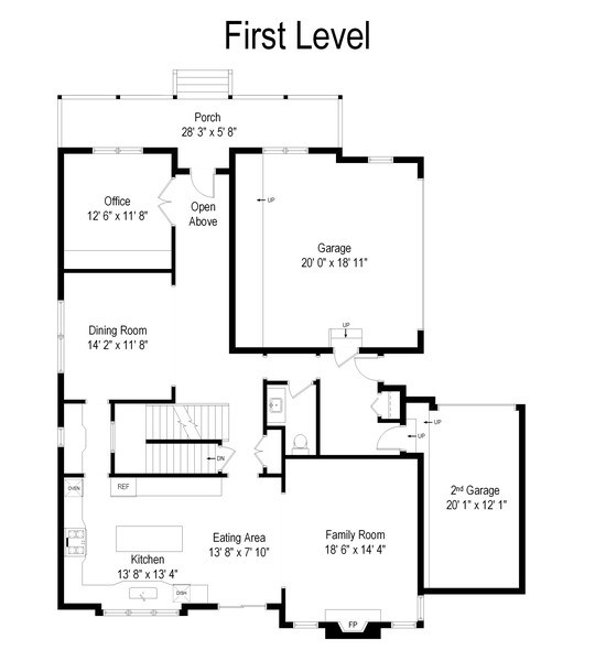 Real Estate Photography - 109 4th Street, Downers Grove, IL, 60515 - Floor Plan
