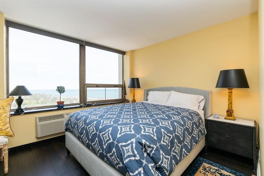 Real Estate Photography - 1460 N Sandburg Ter, Unit 2806, Chicago, IL, 60610 - Bedroom