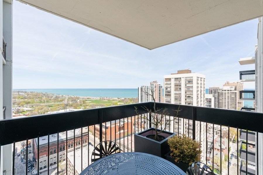 Real Estate Photography - 1460 N Sandburg Ter, Unit 2806, Chicago, IL, 60610 - Balcony