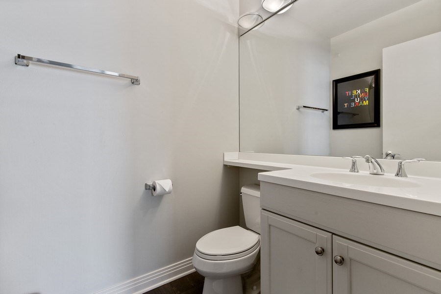 Real Estate Photography - 2656 N Hermitage Ave, Chicago, IL, 60614 - Half Bath (in 4th Bedroom)