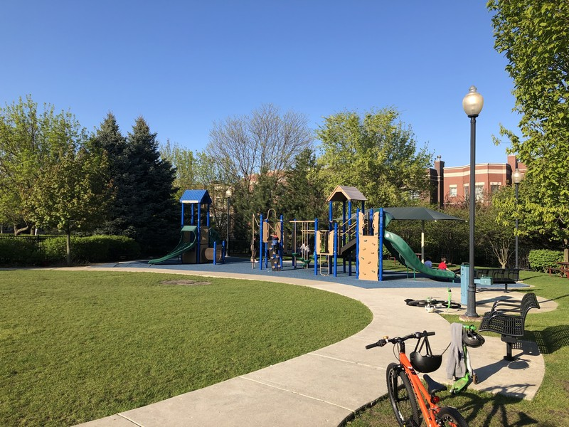 Real Estate Photography - 2656 N Hermitage Ave, Chicago, IL, 60614 - Hartland Park private park with playground