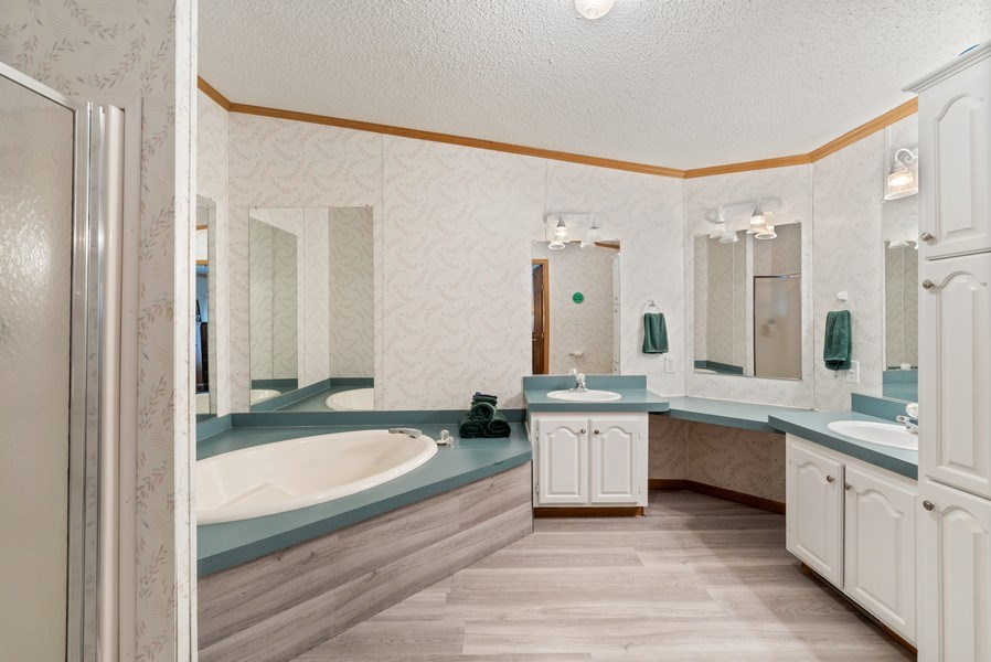 Real Estate Photography - 6411 Berrien, Sawyer, MI, 49125 - Master Bathroom