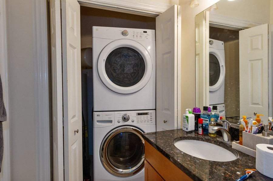 Real Estate Photography - 2307 W Walton St, 2W, Chicago, IL, 60622 - Laundry Room