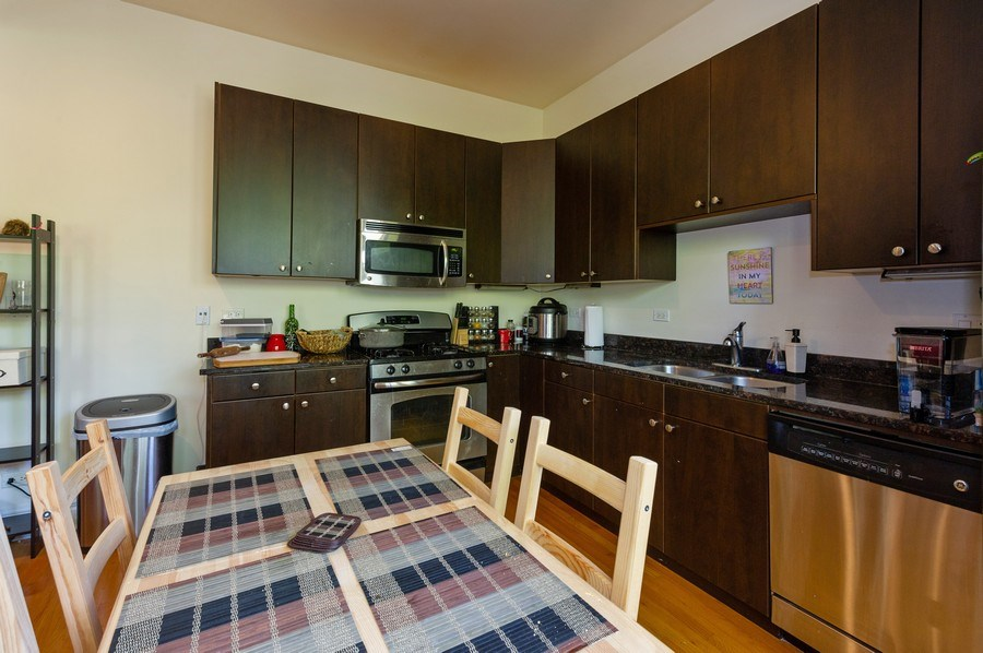 Real Estate Photography - 2307 W Walton St, 2W, Chicago, IL, 60622 - Kitchen / Dining Room