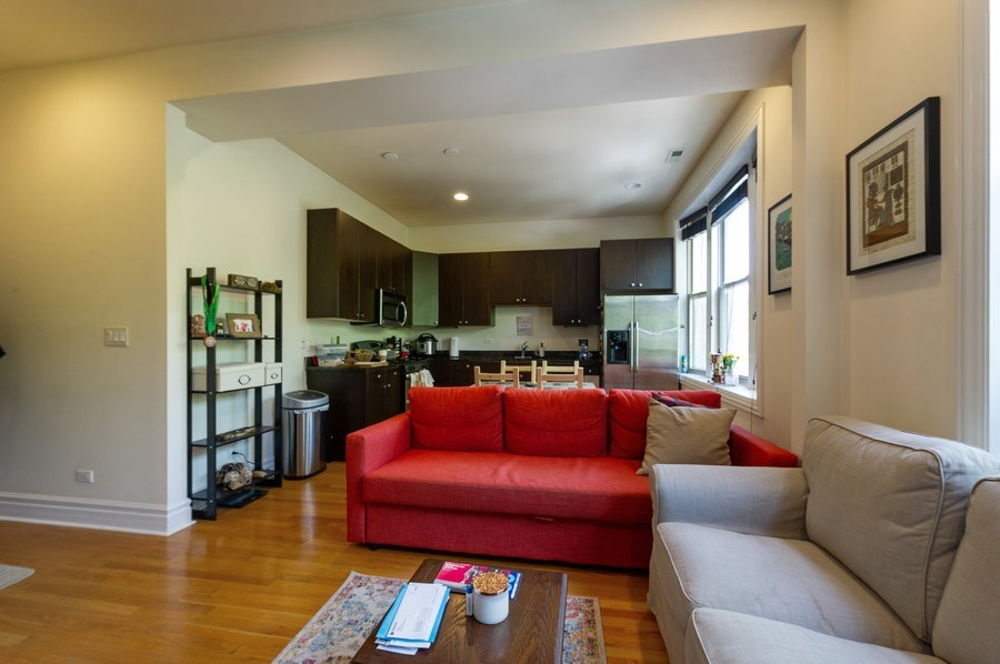 Real Estate Photography - 2307 W Walton St, 2W, Chicago, IL, 60622 - Living Room / Dining Room
