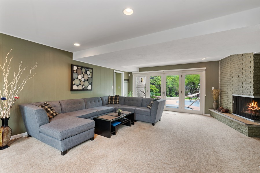 Real Estate Photography - 261 Aspen, Highland Park, IL, 60035 - Family Room