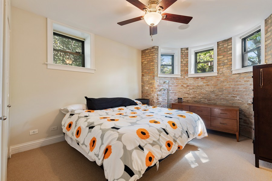 Real Estate Photography - 3508 N Greeenview, Unit 1, Chicago, IL, 60657 - Master Bedroom