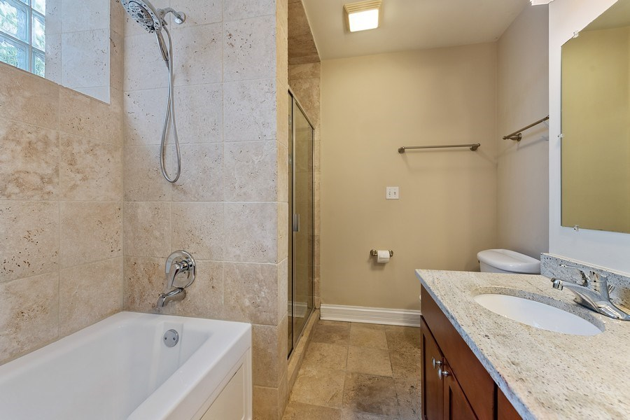 Real Estate Photography - 3508 N Greeenview, Unit 1, Chicago, IL, 60657 - Master Bathroom