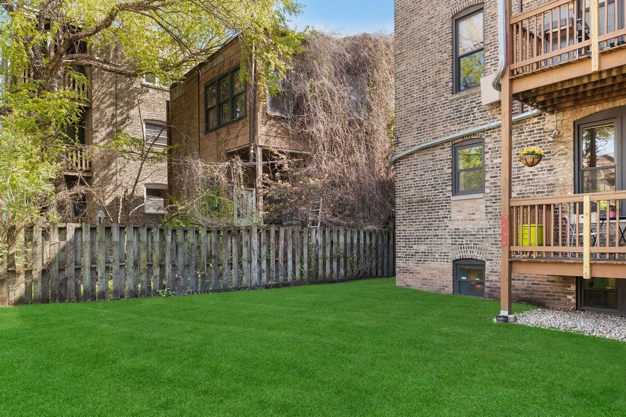 Real Estate Photography - 3508 N Greeenview, Unit 1, Chicago, IL, 60657 - Back Yard