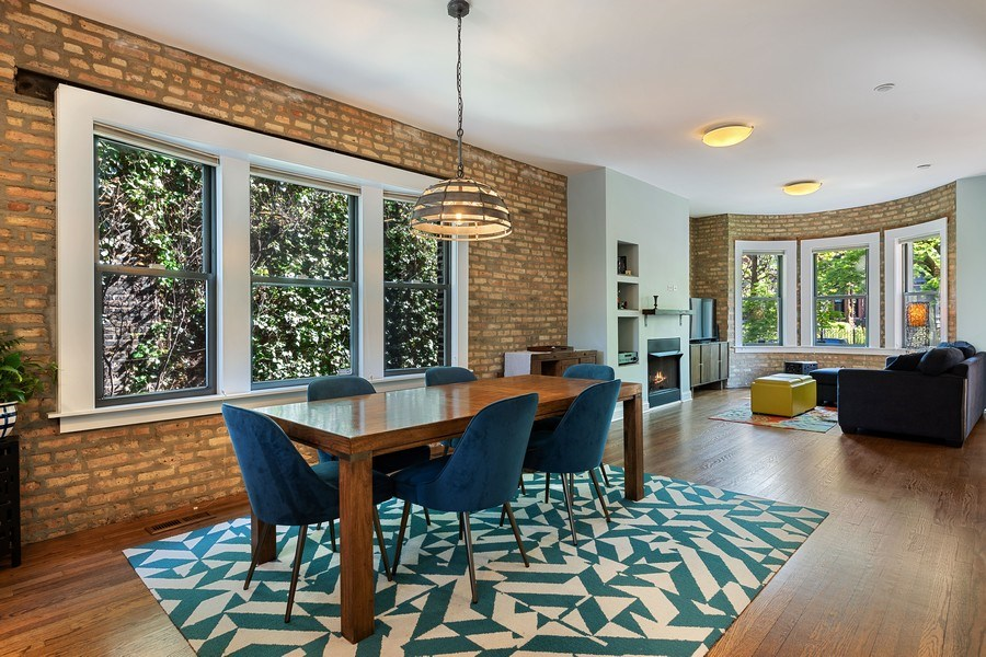 Real Estate Photography - 3508 N Greeenview, Unit 1, Chicago, IL, 60657 - Dining Room