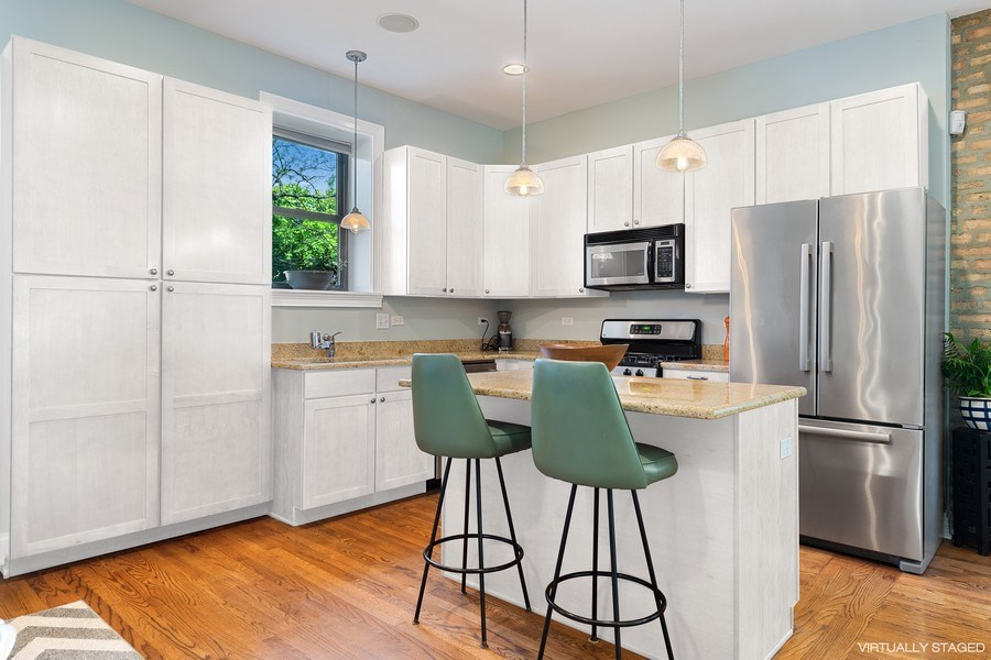 Real Estate Photography - 3508 N Greeenview, Unit 1, Chicago, IL, 60657 - Kitchen