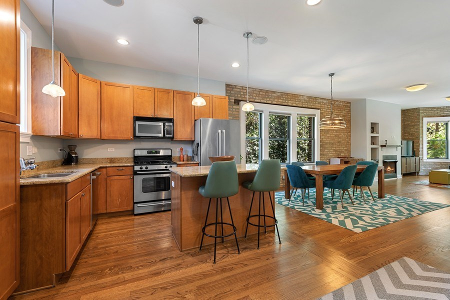 Real Estate Photography - 3508 N Greeenview, Unit 1, Chicago, IL, 60657 - Kitchen/Dining