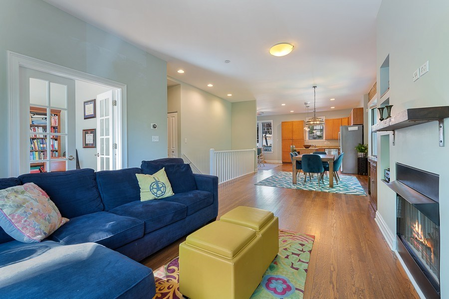 Real Estate Photography - 3508 N Greeenview, Unit 1, Chicago, IL, 60657 - Living Room / Dining Room