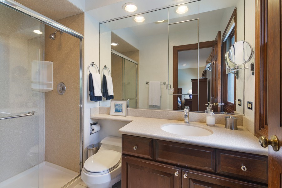 Real Estate Photography - 1224 Brook Ln, Glenview, IL, 60025 - Master Bathroom