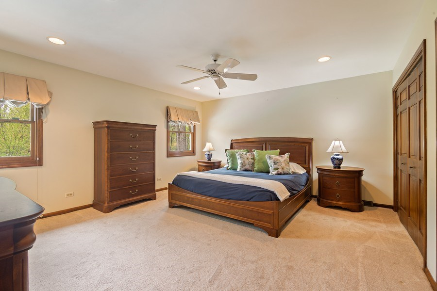 Real Estate Photography - 1224 Brook Ln, Glenview, IL, 60025 - Master Bedroom