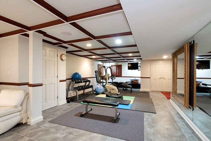 Real Estate Photography - 1390 Kathryn Ln, Lake Forest, IL, 60045 - Gym