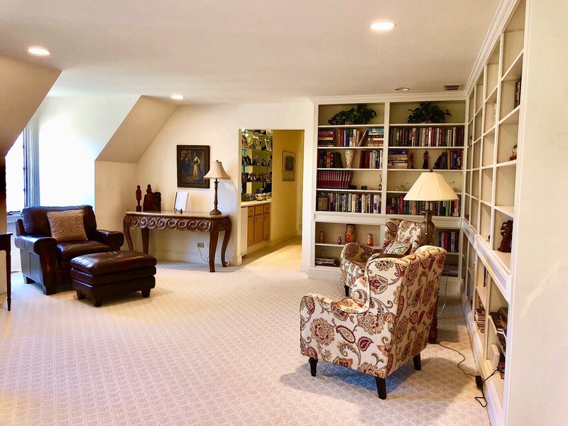 Real Estate Photography - 1390 Kathryn Ln, Lake Forest, IL, 60045 - Library