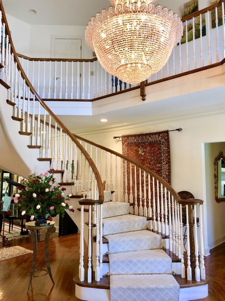 Real Estate Photography - 1390 Kathryn Ln, Lake Forest, IL, 60045 - Grand Entry Staircase