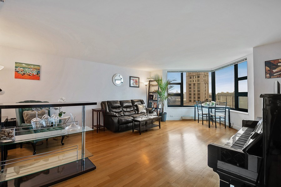 Real Estate Photography - 401 E Ontario St #3207, Chicago, IL, 60611 - Living Room