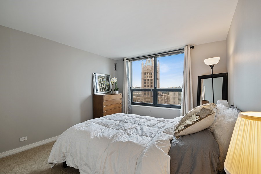 Real Estate Photography - 401 E Ontario St #3207, Chicago, IL, 60611 - Bedroom