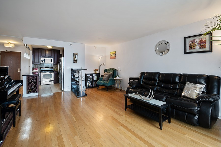 Real Estate Photography - 401 E Ontario St #3207, Chicago, IL, 60611 - Kitchen / Living Room