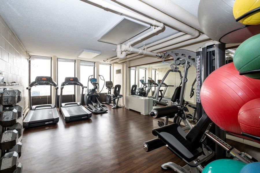 Real Estate Photography - 100 E Walton St, #18A, Chicago, IL, 60611 - Exercise Room