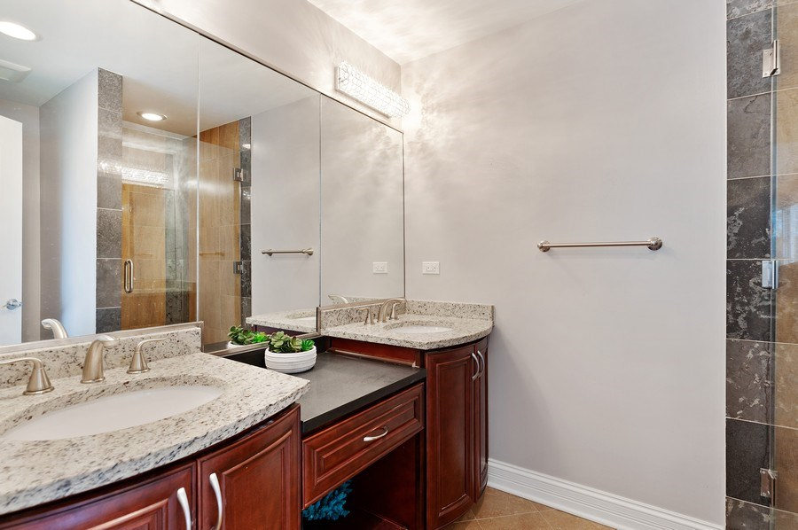 Real Estate Photography - 225 Bluff Ave., Grayslake, IL, 60030 - Master Bathroom