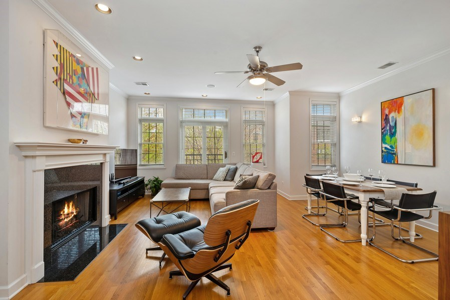 Real Estate Photography - 3839 N Southport Ave, #2, Chicago, IL, 60613 - Living Room / Dining Room