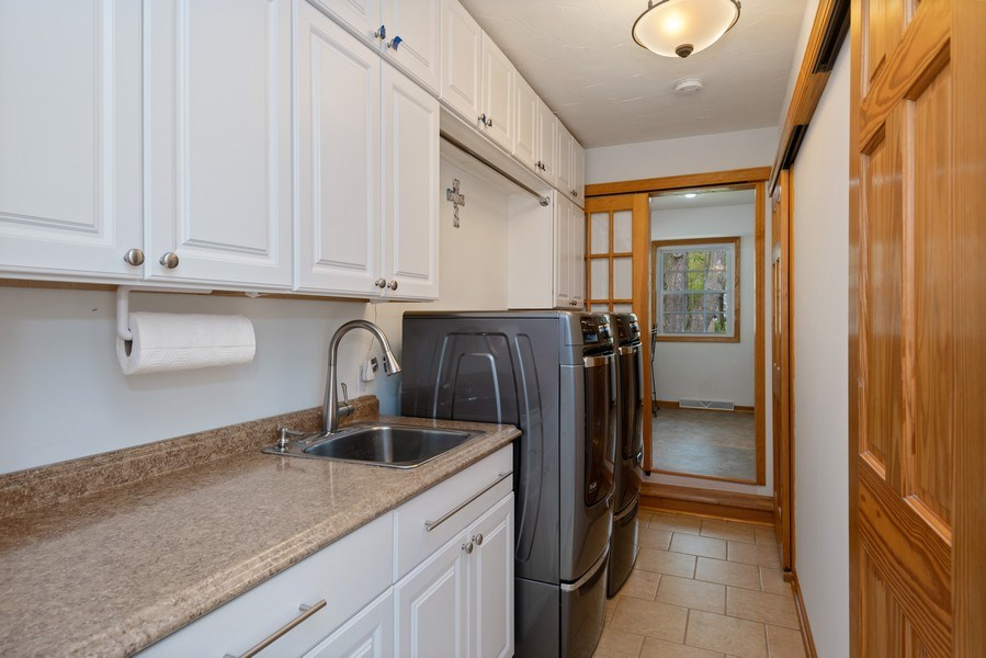 Real Estate Photography - 4679 Wil-O-Paw Drive, Coloma, MI, 49038 - Laundry Room