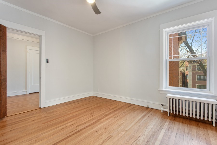 Real Estate Photography - 5483 S Hyde Park, Apt 3 N, Chicago, IL, 60615 - Bedroom