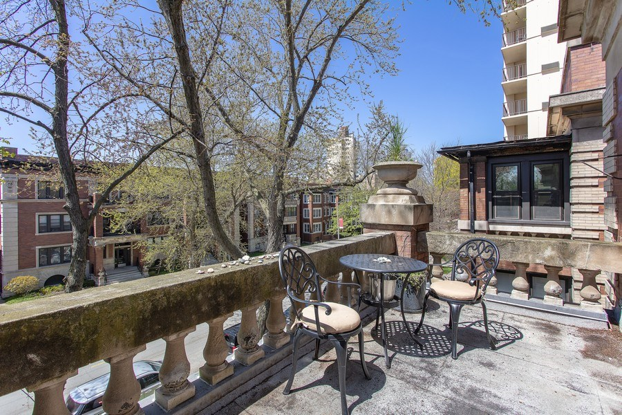 Real Estate Photography - 5483 S Hyde Park, Apt 3 N, Chicago, IL, 60615 - Balcony