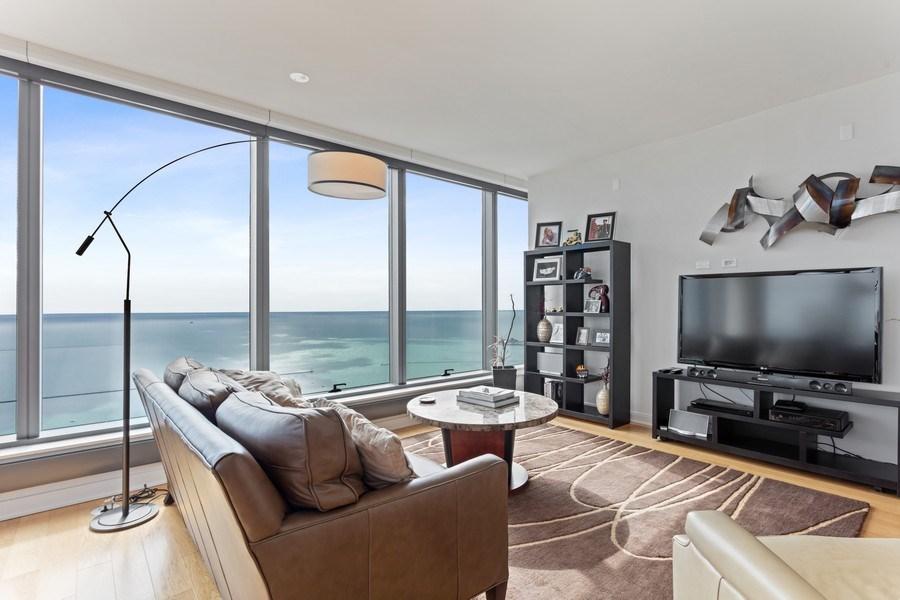 Real Estate Photography - 60 E Monroe unit 5801, Chicago, IL, 60603 - Living Room