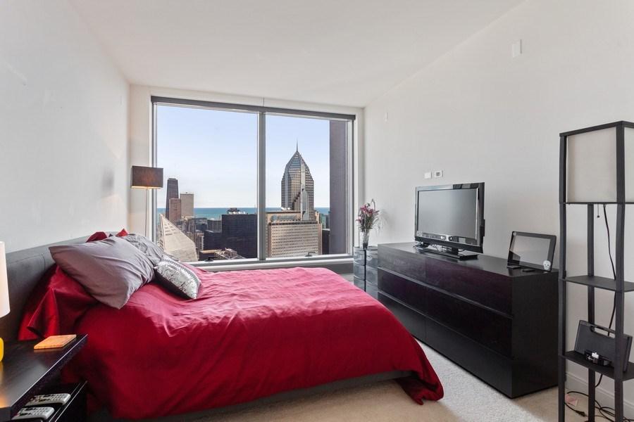 Real Estate Photography - 60 E Monroe unit 5801, Chicago, IL, 60603 - Bedroom