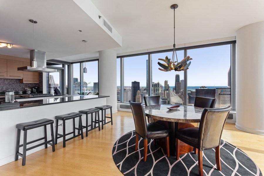Real Estate Photography - 60 E Monroe unit 5801, Chicago, IL, 60603 - Dining Area